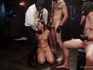 Грубый секс на столе